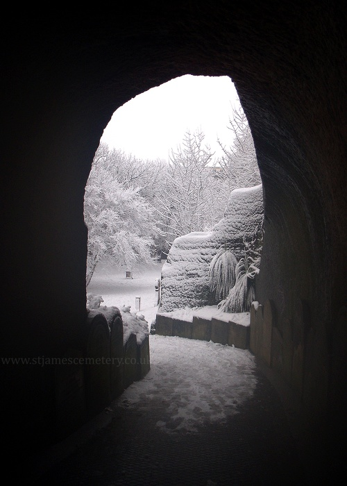 Pedestrian Tunnel and Snow, January 2010 - tunnel-january-2010.jpg