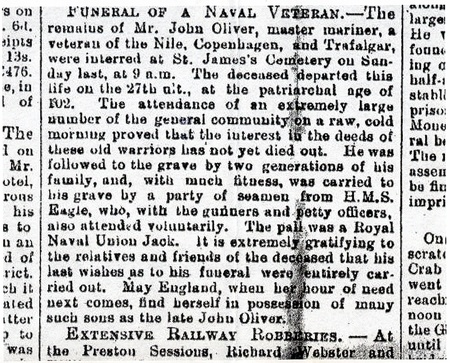 Funeral of a Naval Veteran