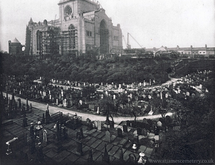 St James' Cemetery & Cathedral Under Construction, 1936 - 1936-st-james-cemetery.jpg