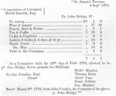 St James' Coffee House Bill, Sept 1775